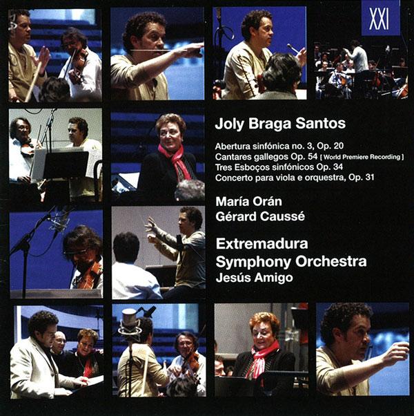 «Joly Braga Santos Obras orquestales» de la Orquesta de Extremadura