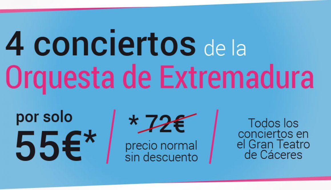 Oferta de 4 entradas a 55 euros