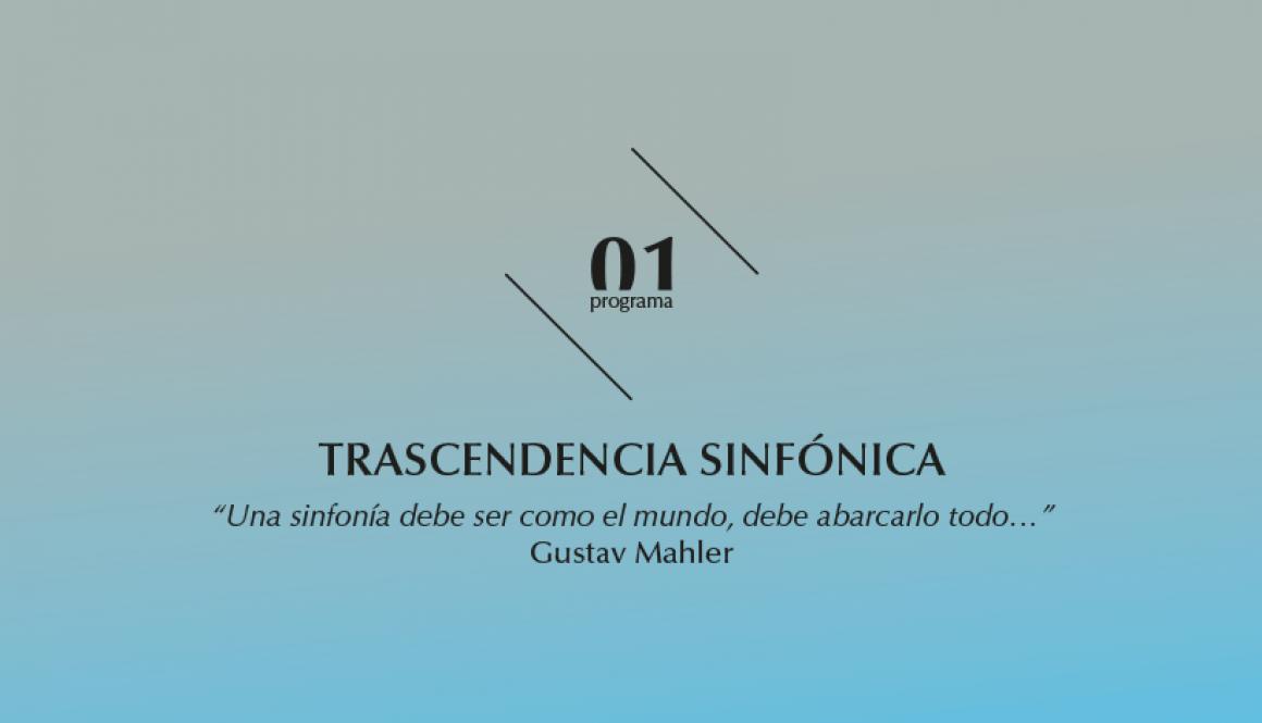 2015-2016 programa 1, Transcendencia sinfónica