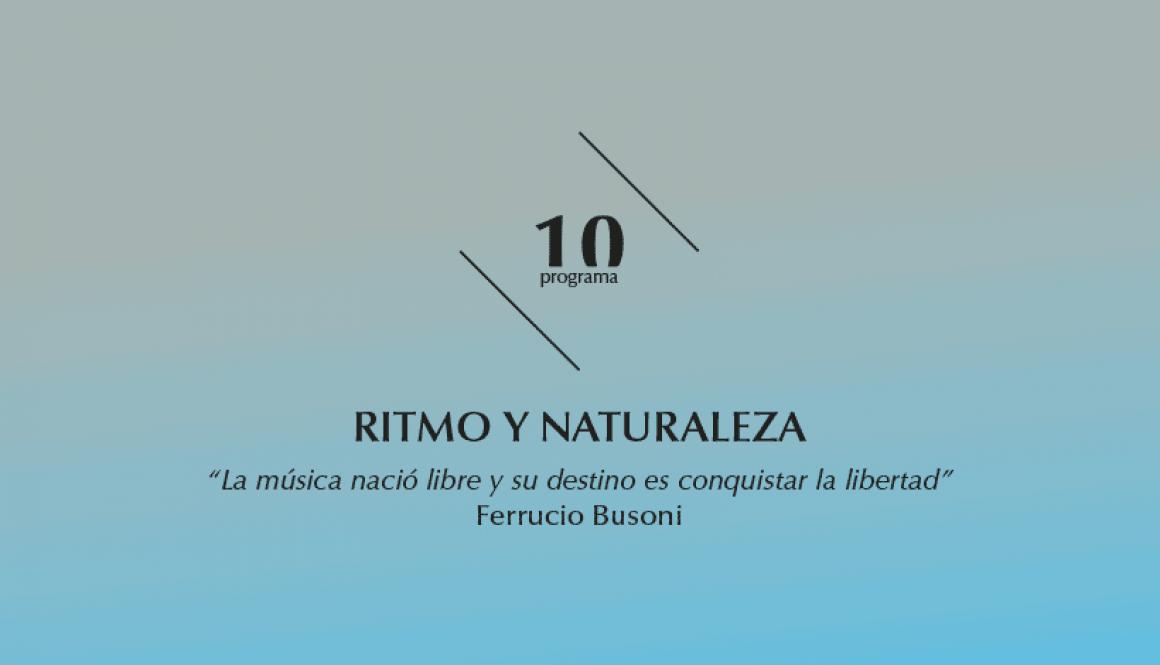 2015-2016 programa 10 Ritmo y Naturaleza