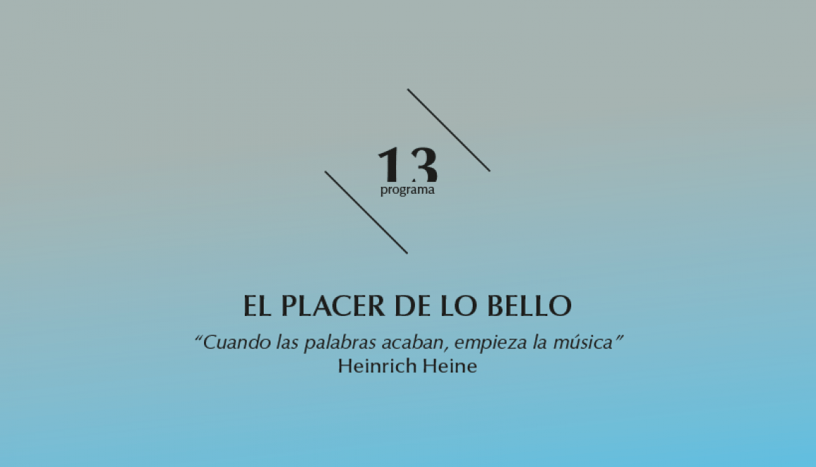 2015-2016 programa 13 El placer de lo bello