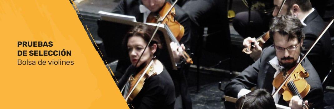 Bolsa de trabajo para violines 2018