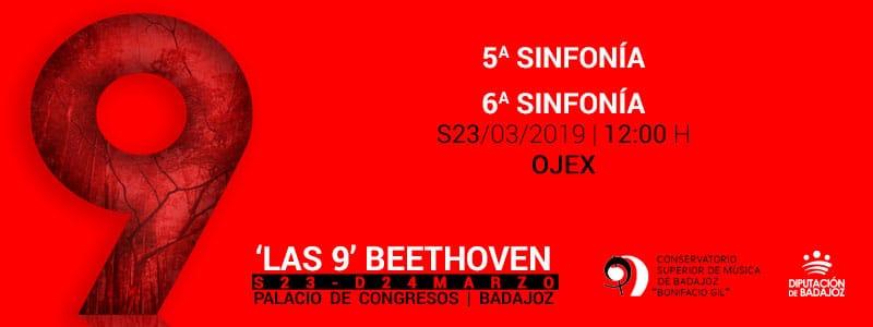 La OJEX interpreta la Quinta y la Sexta en 'Las 9' de Beethoven