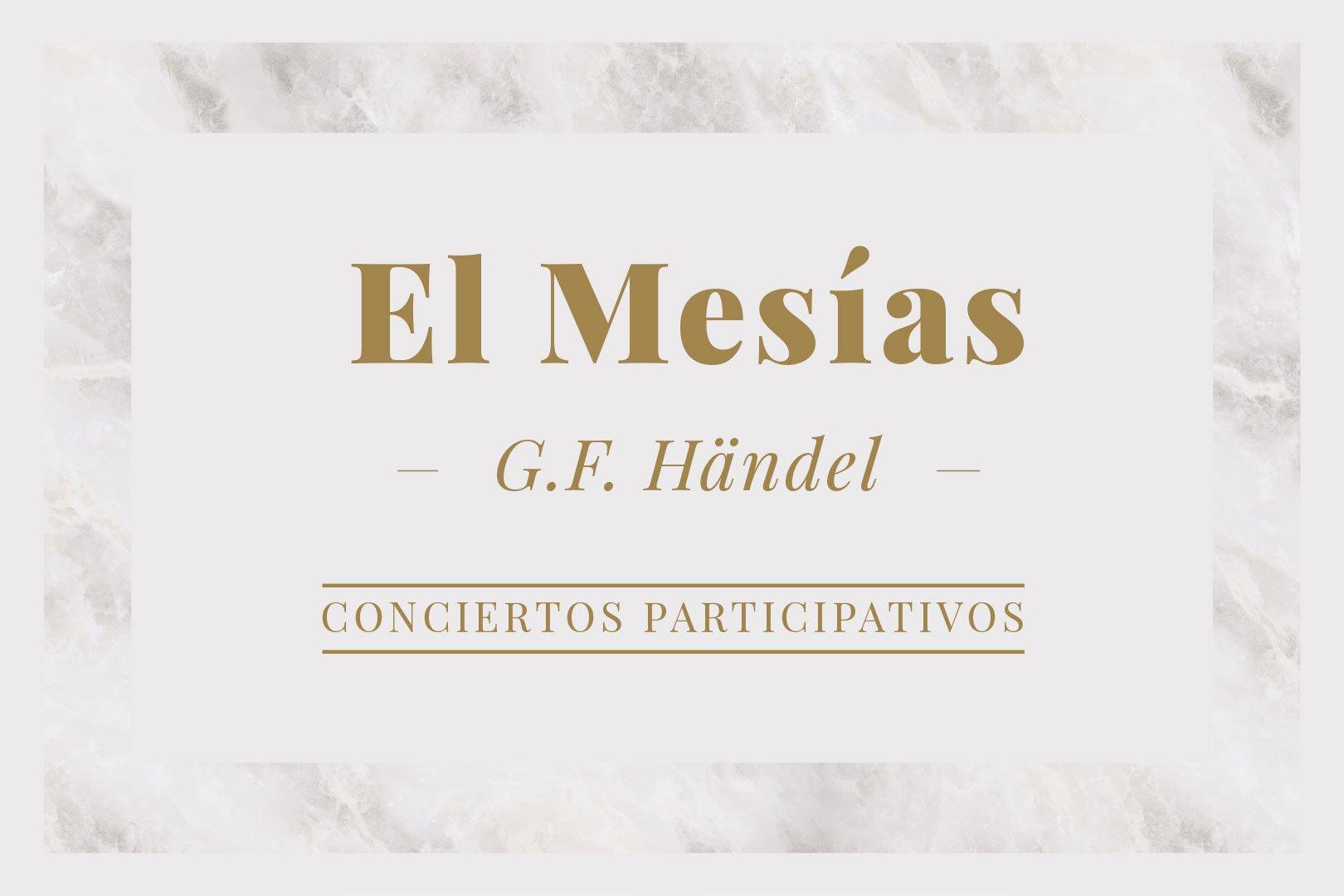 El Mesías. Concierto Participativo organizado por la Caixa. Badajoz 2019