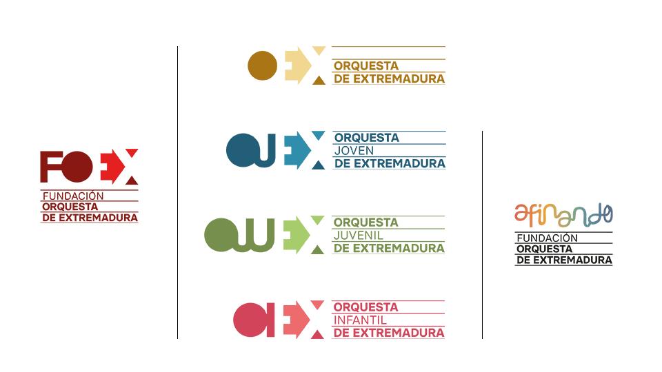 Identidad visual de la Orquesta de Extremadura